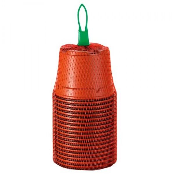 18 Kunststofftöpfe terracotta 9cm